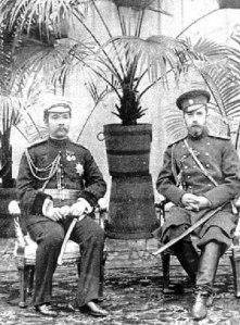 Будущий Император Николай II с Королем Сиама Рама V в 1891 г